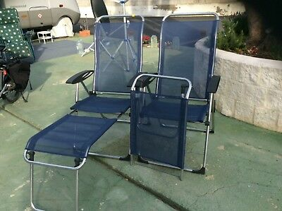 Lafuma Cham Elips X 2 High Back Folding Chairs With Footstools 6
