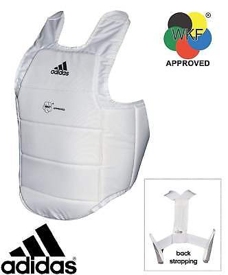 NEW Adidas Body Chest Guard - WKF Approved Karate Body Protector Chest Guard