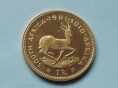 1981 South Africa Gold Rand - Solid Gold - Very Rare