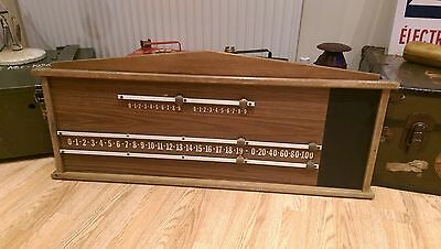 Retro Reclaimed Large Wooden Snooker Hall / Club Scoreboard Rare Nice Example