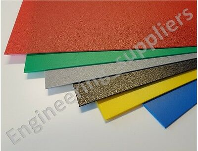 Coloured ViPrint Plastic Sheet Graphic Arts Polypropylene 0.8mm Thick A5 to A2