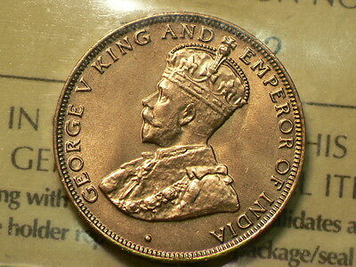 Hong Kong 1931 Cent, ICCS MS-65 RED. Uncirculated #G5184