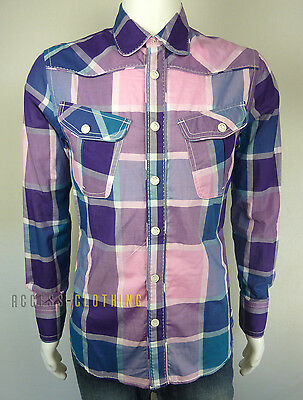 Chemise G-Star Neal Check Shirt L/s Homme Taille M À Carreaux Neuf
