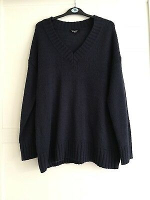 New Look - Navy Oversized Maternity Jumper - Size 14