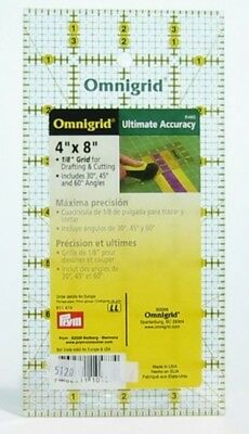 4 INCH x 8 INCH OMNIGRID RULER TEMPLATE RULER PATCHWORK QUILTING CRAFTING bnew