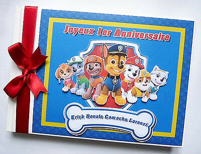 Personalised Paw Patrol Boy / First/1St Birthday Guest Book Any Design