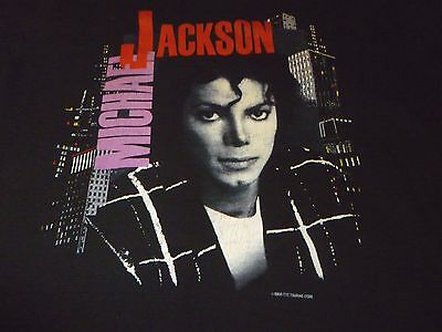 Michael Jackson Vintage 1988 Tour Shirt ( Used Size L ) Used Condition!!!