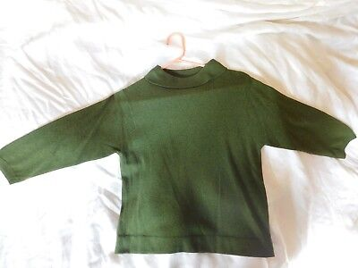 Vintage 1950's/1960's Green Cashmere Sweater By Ballantyne of Peebles Scotland