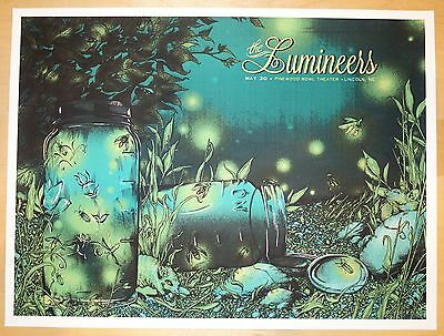 2013 The Lumineers - Lincoln Silkscreen Concert Poster by Erica Williams