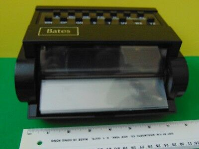 Vintage Bates Desk Top Battery-powered Rotary Card File Index
