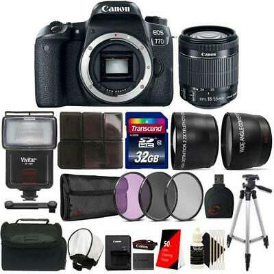 Canon EOS 77D 24.2MP DSLR Camera with 18-55mm Lens , Canon Case and Accessories
