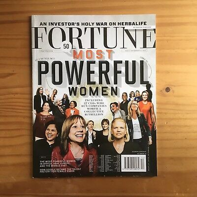Fortune Magazine - 50 Most Powerful Women - Sept 15Th 2015 **new**