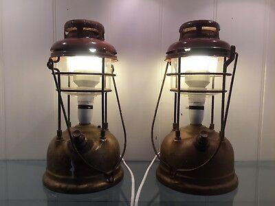 Vintage Upcycled Brass Oil Lantern Lamps