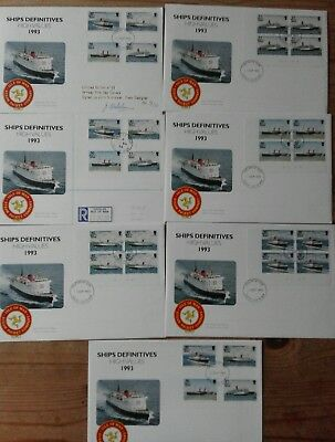 Isle of Man fdc 7 Ships Definitives, plus mint stamps and 4 cards