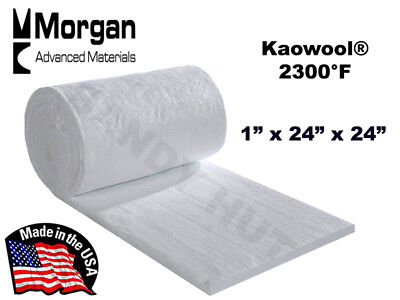 "Ceramic Fiber Blanket Kaowool RT 2300°F  8# 1""x24""x24"" Morgan Thermal Ceramics"