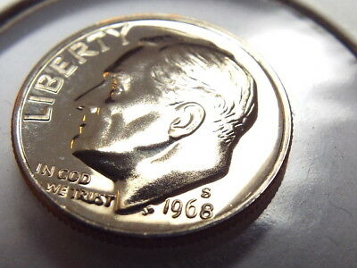 🇺🇸 1968-S 10C Proof Roosevelt Dime Unc Us Mint Coin! Free Shipping!