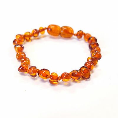 Genuine Amber Bracelet Anklet For Child Size 11Cm - 17Cm Uk Distributor