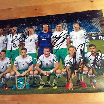 IRELAND signed autographed 12x8 photo signed BY 4 PLAYERS