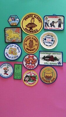 Mixed Collection of Girl Guide Patches