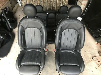 BMW MINI F55 JCW Full Leather Black interior set of seats 5 door Bargain