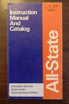 All State Instruction Manual And Catalog Chemetron Welding Products 1975