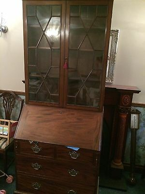 Beautiful Original Antique Georgian Bureau Bookcase c1790 Regency