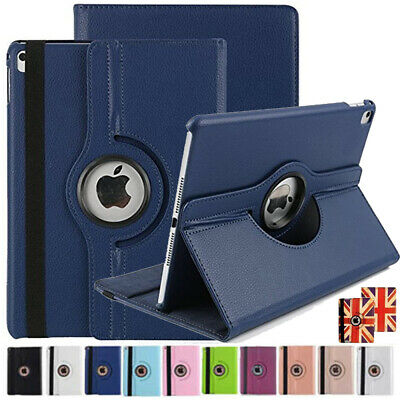 New iPad Case 360 PU Leather Magnet Folio Stand Cover Fit All Apple iPad Models