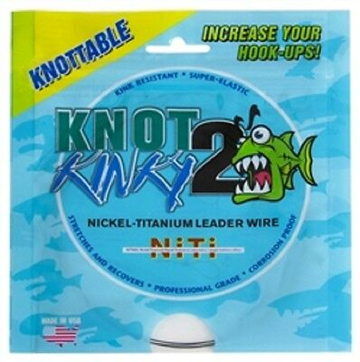 Knot 2 Kinky Nickel-Titanium Leader Wire 18lb(8.16kg) 15ft(4.6m) Single Strand