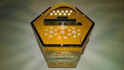 A rare SCHOLER CONCERTINA NO 504 - 20 KEYS - in working order