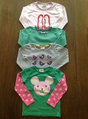 Mini Boden Girls T-Shirts Tops Bundle, Age 3-4 Years