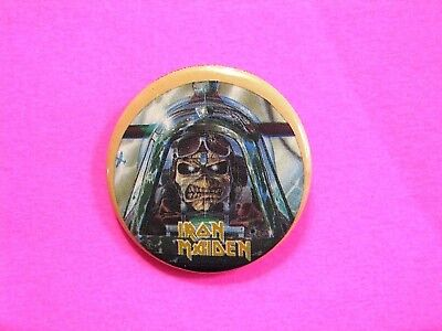 Iron Maiden Official1985 Vintage Button Badge Pin Uk Import  Not Patch Shirt Cd