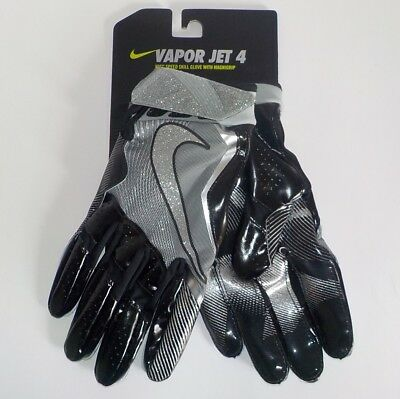 Nike VAPOR JET 4 Receiver Gloves METALLIC GF0575 010 Adult XL Extra Large FAST