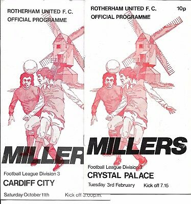 3 Rotherham Utd 86/87 v Cardiff Chester Crystal Palace Division 3 ~ #The1pSale