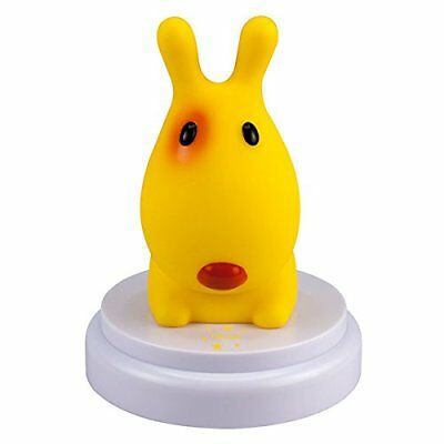 White ALECTO INNOCENT DOG LED YELLOW BABY NIGHT-LIGHT BABY NIGHT-LIGHTS (WHITE