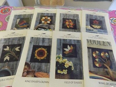 Penny Rug Quilt Block of the Month patterns (8patterns)