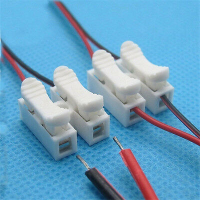 30 lot Electrical Cable Connectors Quick Splice Lock Wire Terminals Self Locking