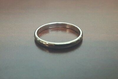 Tiffany & Co. Platinum Pt950 Classic Wedding Band Ring 2mm size 5