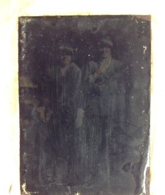 Vintage Social History Old Photo Acetate/Glass, Two Socalite Ladys 20-30's Small