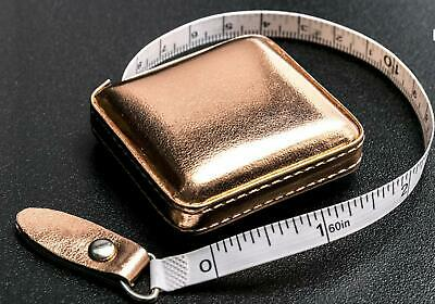 Rose Gold Retractable Tape Measure in PU Fabric Case - 150cm - Gift Stocking