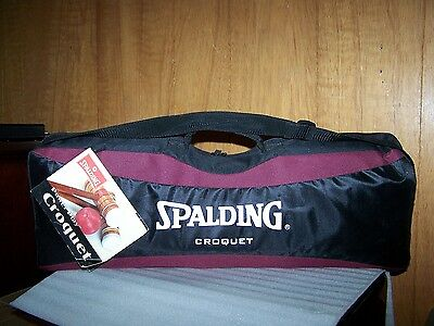 Spalding Power Play 6 Player Croquet Set W/carrying Case # 14434 New