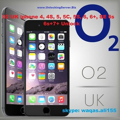 O2  Tesco GiffGaff UK Apple iPhone 6S 6S+ 7 + Factory Unlock Service Clean IMEI