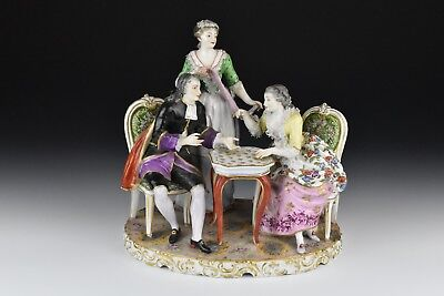 19th Century Dresden German Porcelain Group Figurine