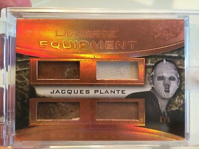 Jacques Plante Ultimate Equipment Game Used 2016 6/9