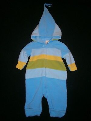 OSHKOSH Baby Boys 3-6 Months FLEECE SNOWSUIT Outerwear BUNTING Convertible CUTE!
