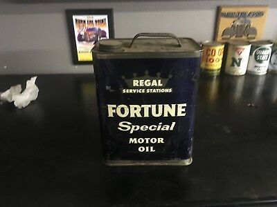 Vintage Fortune Special Motor Oil Can (Regal Service Stations)