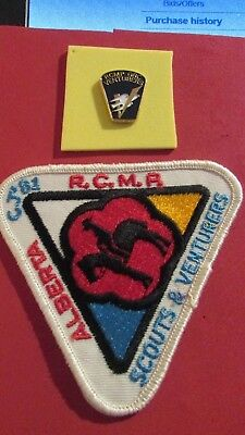 RCMP Venturers Lapel Pin & CJ '81 Scouts/Venturers  RCMP Patch