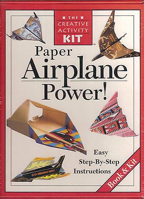 The Creative Activity Kit-Paper Airplane Power-Brand New-Book & Kit