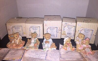 Cherished Teddies Oliver & Olivia Joshua, Camille, Patrick And Sealed With Love