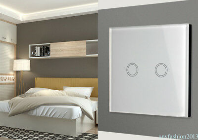 US/EU/UK Panel Smart Touch Wall Light Switch 1/2/3 Gang 1Way Remote Control ZY