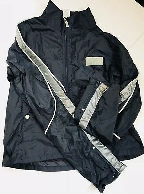 Calvin Klein Jeans Boys Small Zip Up Jacket Navy Reflector Windbreaker